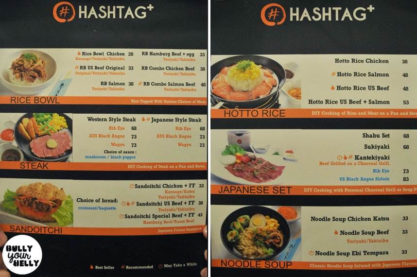 Food feasting at hashtag cafe resto bully your belly